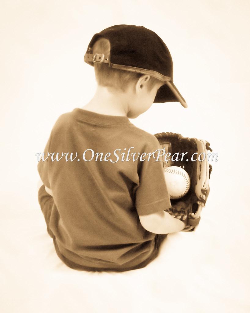 Baseball Mitt (sepia)