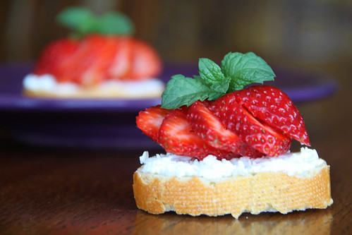 Strawberry & Goat Cheese Bruschetta Recipe by Rona Lewis
