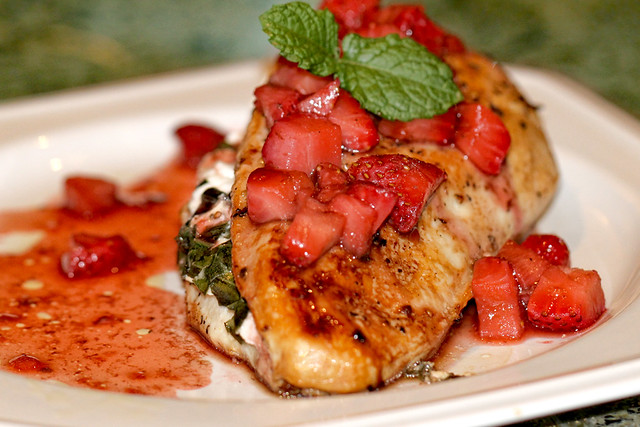 Chicken with Strawberry Sauce