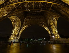 Eiffel tower at night - Angles (jackfre2 (on a trip-voyage-reis-reise)) Tags: lighting people paris france rain night eiffeltower perspective lampposts wow1 wow2 wow3 gustaveeiffel doublyniceshot doubleniceshot mygearandme mygearandmepremium dblringexcellence tplringexcellence aboveandbeyondlevel1 flickrstruereflection1 flickrstruereflection2 metallicframework