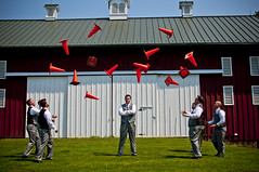 This one's a toss up (One Way Street Production) Tags: wedding groom funny traffic cone posed toss groomsmen bridalparty