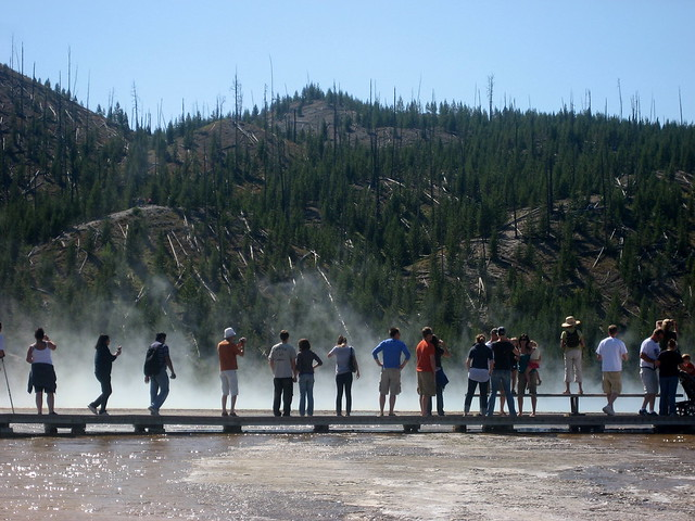 Onlookers @ Grand Prismatic Spring