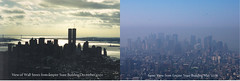 skyline comparison-  pre and post 9/11 (jennnster) Tags: skyline worldtradecenter twintowers alwaysremember iremember 911remembered wallstreetskyline prepostworldtradecenter viewfromempirestatebuilding2000 viewfromempirestatebuilding2008 wtcphotocomparison 91110yearslater