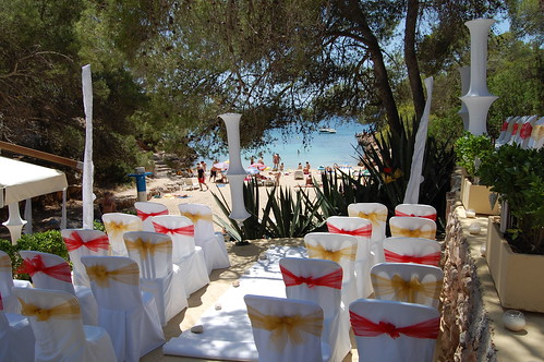 El Chiringuito at Cala Gracioneta, Ibiza wedding venue