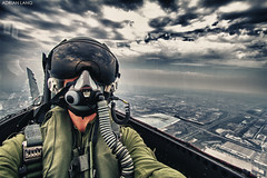 .90 (~Clubber~) Tags: selfportrait toronto canada me self airplane person fighter ride mask aircraft aviation military helmet flight jet hornet aviator pilot rcaf cf18