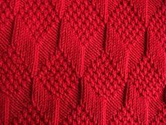Moss Diamond and Lozenge Pattern (natalief) Tags: knitting wtp