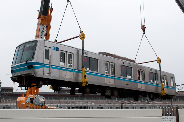 東京メトロ東西線05系 05-105F 05-005 搬出