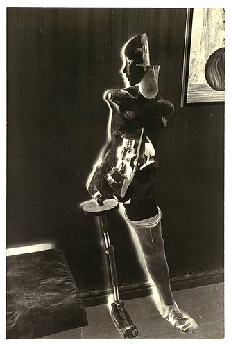 Bellmer, Hans (1902-1975) - 1934-35 The Negative Image of Wooden Mannequin Standing against Wall in Room with Painting and Bed (Metropolitan Museum of Art, New York City) by RasMarley