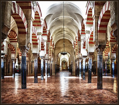 Mysterious Mezquita (Explore) (Bert Kaufmann) Tags: espaa spain mosque explore mezquita crdoba hdr spanien spanje moskee mezquitacatedral explored greatmosqueofcrdoba