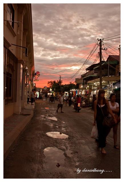 Dusk at Night Market, Siem Reap