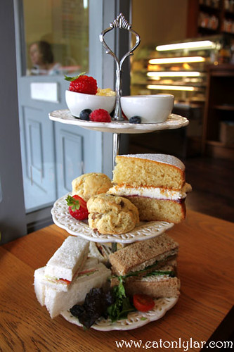 English afternoon tea, Waterloo Gardens Teahouse