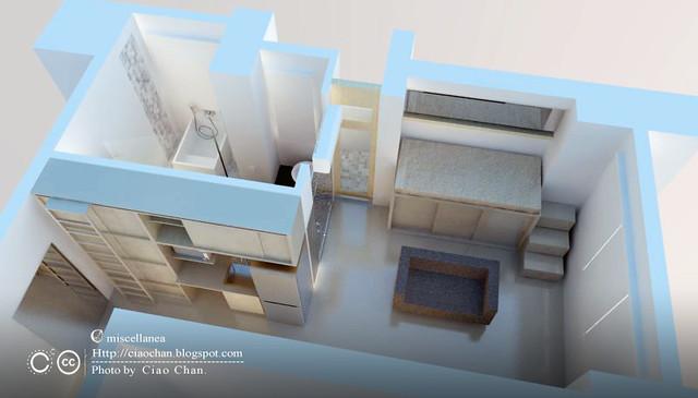 [W&L] 私人小坪數套房設計 1 ~  SketchUp + VRay 昏頭篇1-02