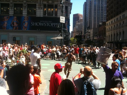 Dancer-acrobats, Times Sq.