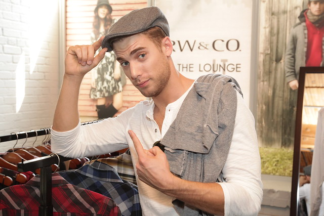 Dustin Milligan tries a hat by RW&CO