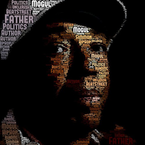 Russell Simmons #typography #portrait