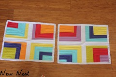 Cup of Rainbows Placemats (Sort of square) Tags: kitchen quilting placemats mporvisational