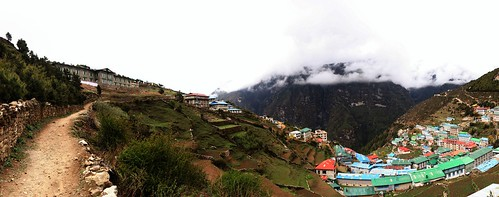 """Namche village is located on hillside terraces, like everything else in the Himalayas."", Photo: Tanel Saimre"
