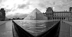 PYRAMIDALE (dzpixel) Tags: white black paris france museum architecture noir niceshot louvre n musée fisheye pyramide pyramidale