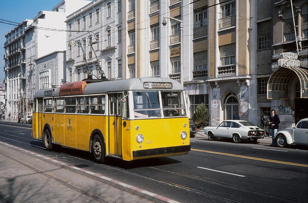 Coimbra trolleybus 43 Hotel Astoria