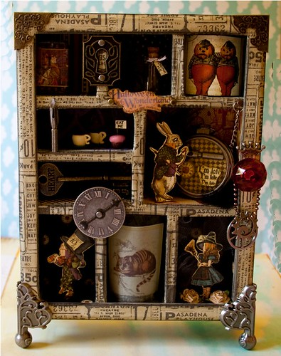 alice in wonderland halloween shadowbox
