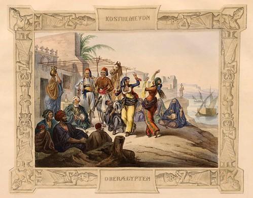 010-Vestimentas del Alto Egipto-Malerische Ansichten aus dem Orient-1839-1840- Heinrich von Mayr-© Bayerische Staatsbibliothek