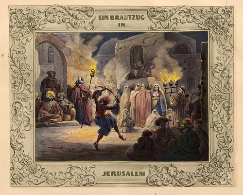 018-Una boda en Jerusalem-Malerische Ansichten aus dem Orient-1839-1840- Heinrich von Mayr-© Bayerische Staatsbibliothek
