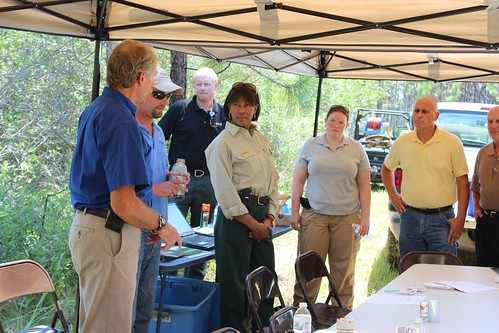 Conservation officials met Aug. 29 to talk about habitat restoration efforts of the longleaf pine tree. This ecosystem needs to be expanded because of the animals that depend on it for survival, including the dusky gopher frog, gopher tortoise and black pine snake.