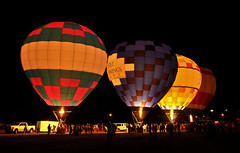 Balloon Glow (1 of 2) (abe402) Tags: night fire kentucky hotairballoon balloonglow nightglow spoonbreadfestival