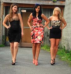 Frankie's Angels showing off their stuff (Alaskan Dude) Tags: sabrina fashion alaska portraits amber women legs modeling jenny models style anchorage photoshoots frankiesangels