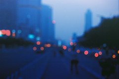 Blue and Blur (a l e x . k) Tags: guangzhou street city blur film pentax lx fa43mmf19
