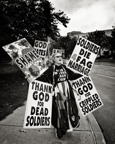 KC Slutwalk - Scrape your shoes off and step along. The so-called Westboro Baptist Church is a pitiable ragtag group, mostly family of a guy named Phelps, that pickets funerals of dead soldiers, Muslim groups and music performers they don't like.