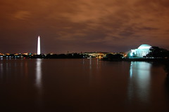 Night Time Reflections at the Tidal Basin (Seth Oliver Photographic Art) Tags: nightphotography clouds reflections washingtondc iso200 nikon nightimages nightlights cityscapes nightshots driftingclouds beautifulclouds jeffersonmemorial pinoy nationalmonument nightscapes urbanscapes nightscenes tidalbasin longexposures travelphotography nightexposures d40 wetreflections bulbexposures sooc theobelisk motionblurs aperturef110 manualmodeexposure setholiver1 18105mmnikkorlens circularpolarizers nocturneimages remotetriggeredshot vacationimages ballheadtripodmountedshot 516secondexposure nikonremotetrigger nightsilhouttes nighttimeatthetidalbasin earlyautumninwashingtondc