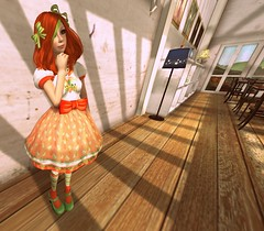 Coordinate 231 (littlerowan) Tags: truth lolita secondlife teddybear egl maryjanes orangehair bows sweetlolita hairbows casuallolita overkneesocks honeykitty otks orangelips katat0nik pinkfuel