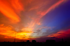08-20-2011 (Shutterfreak ☮) Tags: houses sunset tower church colors silhouette clouds buildings landscape cityscape horizon dhaka inkiad