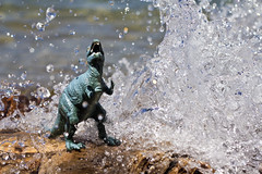 IMPACT (Adam_Kennedy) Tags: beach water toys dinosaur reptile tahoe plastic