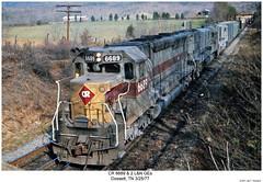 CR 6689 & 2 L&N GEs (Robert W. Thomson) Tags: railroad train diesel tennessee railway trains el locomotive uboat trainengine ge cr conrail sd45 emd dossett sdp45 sixaxle erielackawana