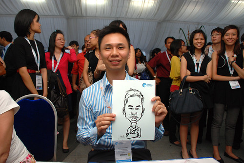 caricature live sketching for Singapore International Water Week Closing Dinner - 8