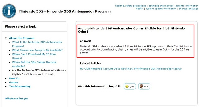 Ambassador Program Games Will be Eligible for Club Nintendo