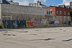 graffiti wall, N Philly... (damonabnormal) Tags: street city urban philadelphia graffiti nikon tag streetphotography tags m urbanart pa dane spraypaint philly graff aug nikkor taggers phl kas tagger tagz urbanite outie 2011 d90 kbt havocprob