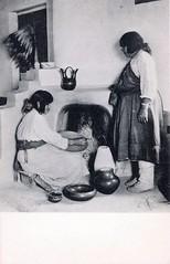 """Postcard: San Ildefonso Pueblo """"Potters"""" (jmlwinder) Tags: newmexico southwest pottery nm pueblos picnik lauragilpin scannedpostcard"""