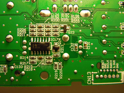 Monotribe main board bottom side (closeup)