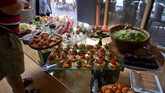 Food Table at Seafair Party
