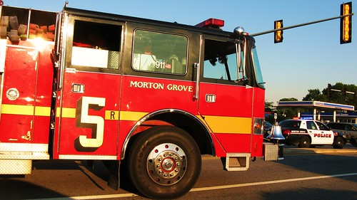 Morton Grove Fire Department , Engine #5.  Morton Grove Illinois USA. Thursday, August 11th, 2011. by Eddie from Chicago