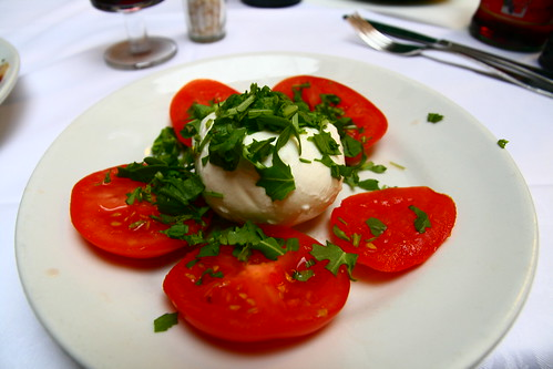 Caprese Salad at Ristorante Vitto in Siena