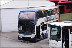 Stagecoach Newcastle 19151 (NK07 HBL) (Colin H,) Tags: newcastle fire south alexander dennis damaged stagecoach enviro trident adl anston ibp plaxton enviro400 nk07hbl colinhumphrey