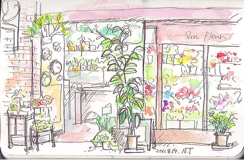 サンシャイン池袋の花屋 The flower shop at Sunshine-City in Ikebukuro