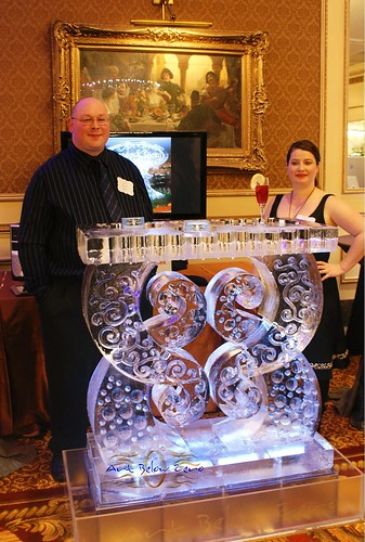 Parisian Swirl Ice Table Ice Sculpture