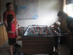 Foosball at Secret Caverns (heidomerg) Tags: evan vacation mike james 2011 reneka