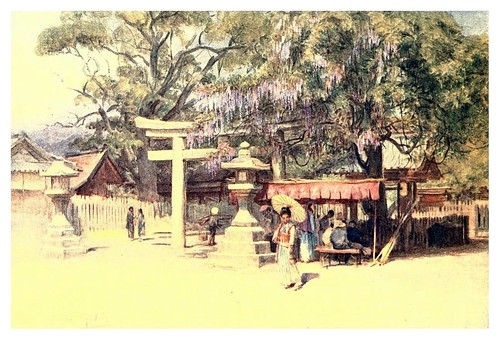 002-Entrada del templo de Ikuta-Japan & the Japanese 1910- Walter Tyndale