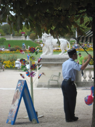 Whistling Policeman in Luxembourg Gardens